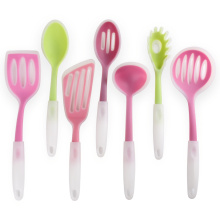 New arrival silicone cooking utensils with plastic handle
