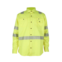 Bomull Hi Vis Flame Retardant Industri Work Shirt
