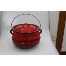 Enamel flat bottom potjie for cooking