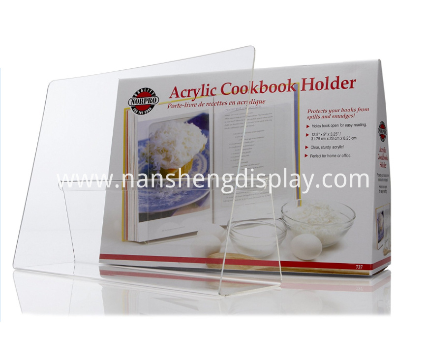Acrylic Cookbook Holder