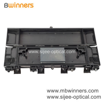 Horizontal 24 Core Optical Fiber Optic Splice Closure