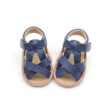 New Fashion Blue Baby Soft Leather Shoes