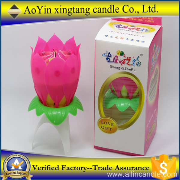 Lotus Flower Amazing Musical Birthday Cake Candle