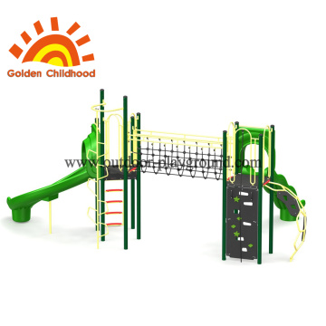 Simple Green Outdoor Play Structure For Children