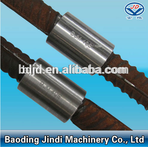 Mechanical thread splicing coupler with 45# carbon steel
