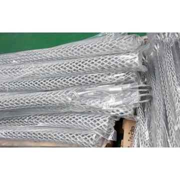 Close smooth wire mesh cable grips wire grip