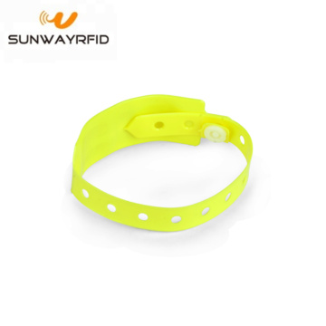 Custom Chip RFID PVC Disposable Wristbands