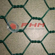 Green PVC DINGZHOU Hexagonal Wire Netting for Protection