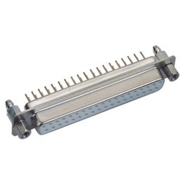 D-SUB Slim 25F Right Angle DIP Single Row