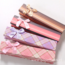 Cheap Paper Megnetic Pen Gift Box With Bowknot