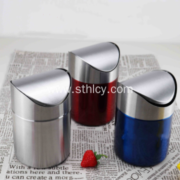 Stainless Steel Shaker Trash Can