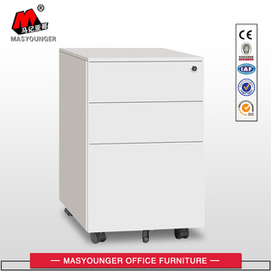 A4 File Cabinet 3 Drawer Mobile Pedestal
