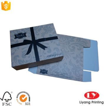 Cosmetic gift packaging box with logo printed
