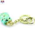 Metal custom 3d animal shaped enamel keychain