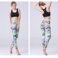 Custom fashion women shiny lycra yoga leggings pants