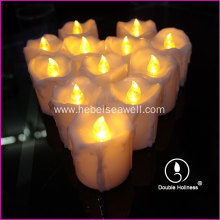 electric led tear drop tea light candles