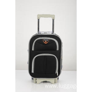 New Product for Two-wheeled Trolley Luggage Expandable Silver zipper luggage supply to Samoa Exporter