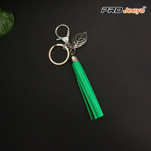 Reflective Green Tassle Lightning USB Cable Keychain
