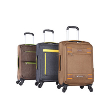 Custom design soft fabric cabin travel luggage