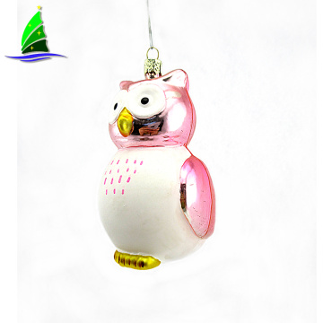 Festival Christmas Decoration Hanging Glass Owl Ornament