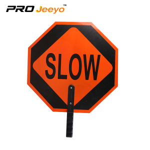 Engineer grade reflective aluminum slow sign