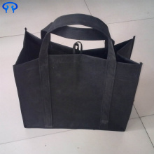 Top for Non Woven Shopping Bag Large black non-woven bag export to Germany Manufacturer