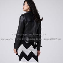 China Manufacturer for Shearling Bomber Jacket Women Short Leather Jacket supply to Spain Manufacturer