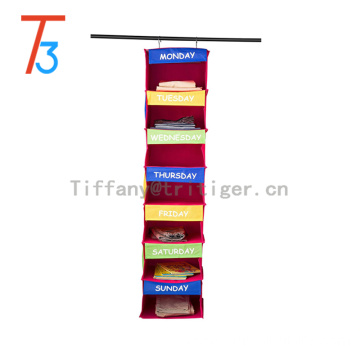 Fashion Cabinet 7 shelves Closet kids towel clothes shoes accessories hanging storage organizer