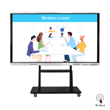 86 Inches Touch Panel With Mobile Stand