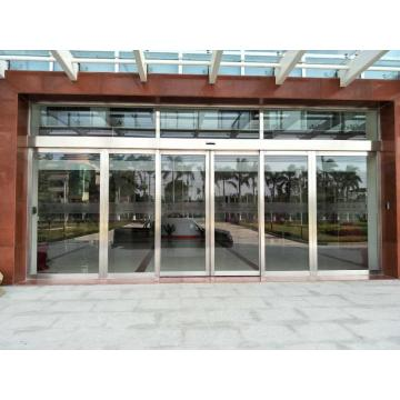 Aluminum Alloy Frame Entrance Tempered Glass Sliding Door
