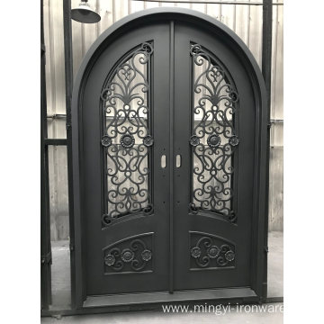 High Quality with Good Design Wrought Iron Door