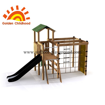 Outdoor playground equipment wall activities