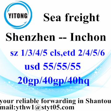 Shenzhen to Inchon Container Shipping Service