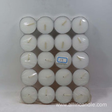 Household use unscented white tea light candle