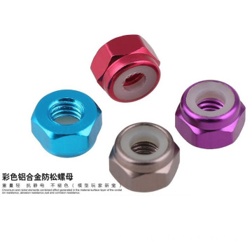 M5 anodized aluminum self lock nut for quadcopter