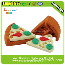 Pizza shaped fast food TPR office eraser