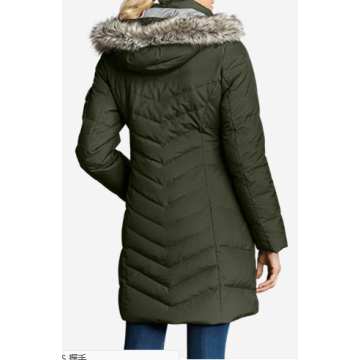 Popular Fur Hoodie Down Padded Long Parka Women