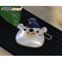 Reflective Safety Bear Shape Pendant Kids Keychain