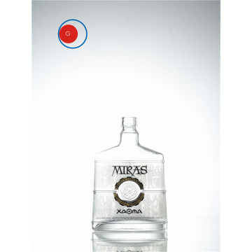 Round Bottom Vodka Glass Bottle