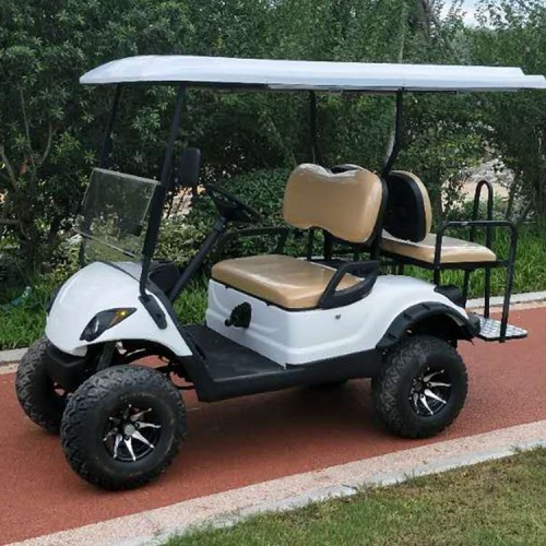 Golf cart used gas with off-road tire