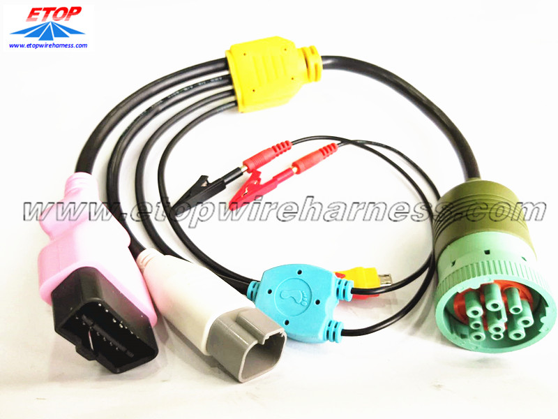 heavy vehicle diagnostic cables