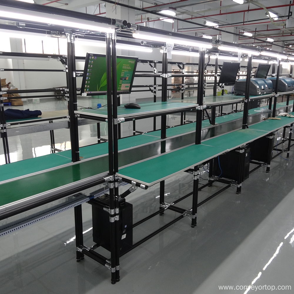 Belt Conveyor System with Lean Pipe Frame