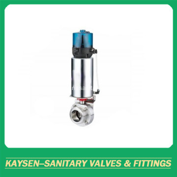 SMS Hygienic Pneumatic Butterfly Valves Male Control Head