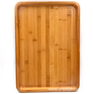 Large Size Bamboo Serving Tray, Rectangular, 18 x 13 x 1.2 Inches: Serving Trays