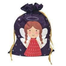 Cheap for Christmas Sack,Personalised Christmas Sack,Large Christmas Sacks Manufacturer in China Christmas sack with dancing angel pattern supply to Indonesia Manufacturers