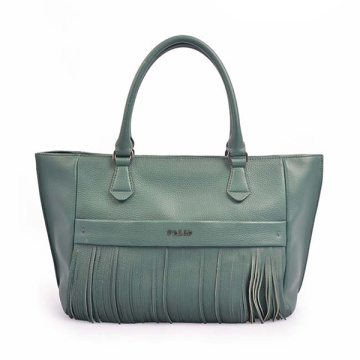 Leather TOTE Heritage Made In Italy Tassel Bag