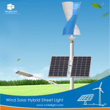 DELIGHT White Wind Solar Post Street Lights