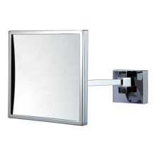 Square arms extending bathroom mirror