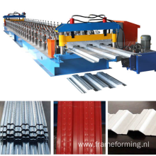interlocked/ nestable embossed slot vented decking or hangar tabs floor deck roll forming machine