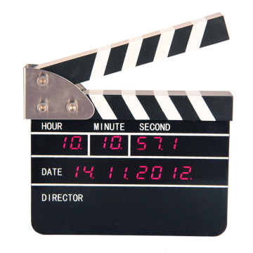 Big Movie Clapper Alarm Table Alarm Clock for Decoration